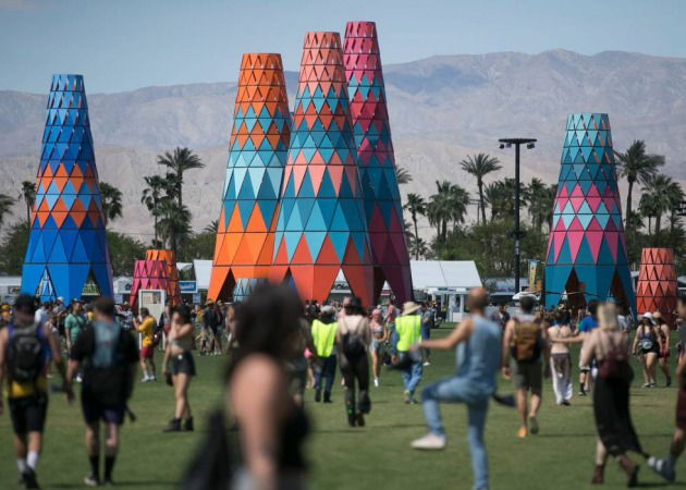 Vista general del recinto de Coachella en 2019.