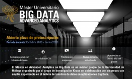 La UMA ya ha abierto el periodo de preinscripción de la IV Edición del Máster Advanced Analytics on Big Data
